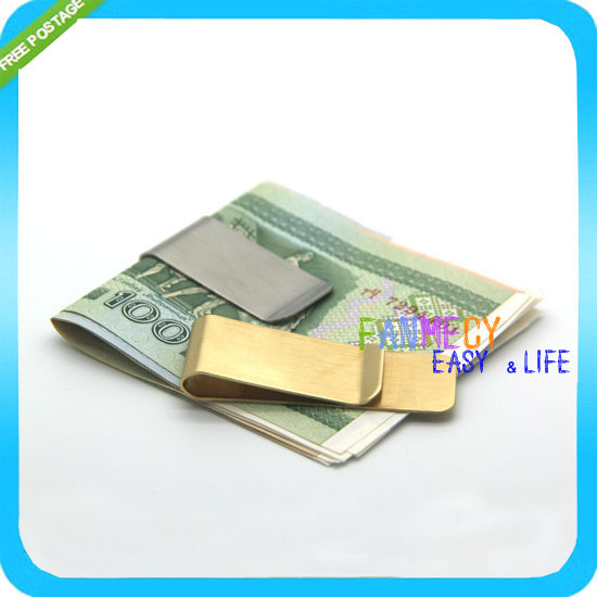 Гаджет  NEW Stainless Steel Money Cash Clip Clamp Holder For Pocket Slim Sleek Style Gold Silver 2 colors Freeshipping CL01 None Камера и Сумки
