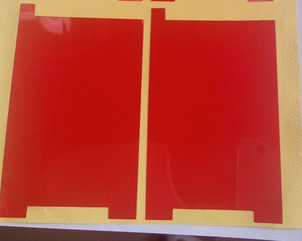 Wholesale for iPhone 4 4G 4S Red LCD Backlight Sticker Film Refurbishment Replacement Repair Parts OEM 100pcs/lot Free Shipping(China (Mainland))