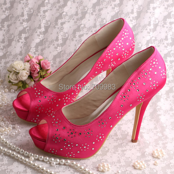 Hot Pink High Heels Wedding