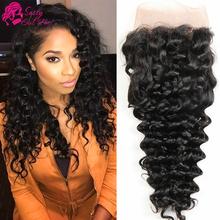 Brazilian Deep Wave Frontal Closure Vip Beauty Hair Brazilian Deep Curly Lace Front Closure Piece Ear To Ear Cheap Weave Online