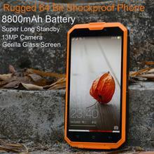 8800mAh Long Standby Rugged Smartphone Shockproof TD-SCDMA MTK6735 13MP 5.0″ YunOS system 4G TD-LTE phone P193