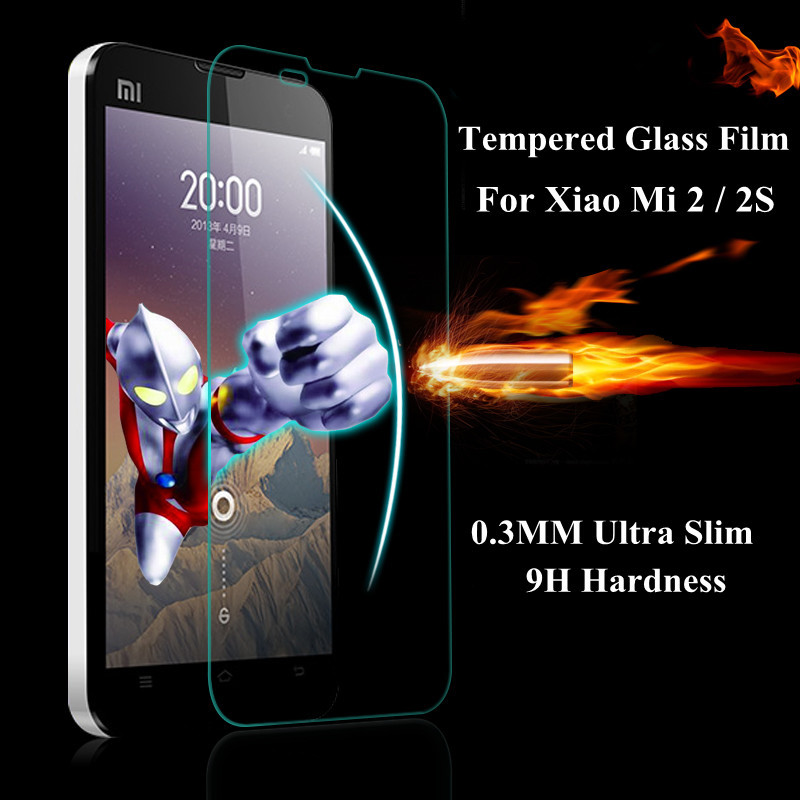 0.3mm 9H Tempered Glass Protector Toughened film For Xiaomi M2 M2s Mi2 Mi2s MI M 2 2S Screen Protector Protective Guard(China (Mainland))