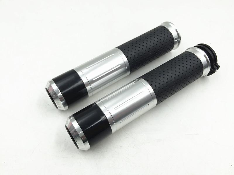 "New 2x Universal Motorcycle Handlebar Grips Handle Bar Grips CNC Aluminum 7/8"" 22MM Motorbike Motorcross Accessories 5 Colors"