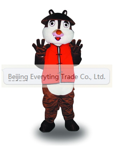 New arrival 2014 Adult cute red squirrel mascot fancy dress costumes Halloween party costumes(China (Mainland))