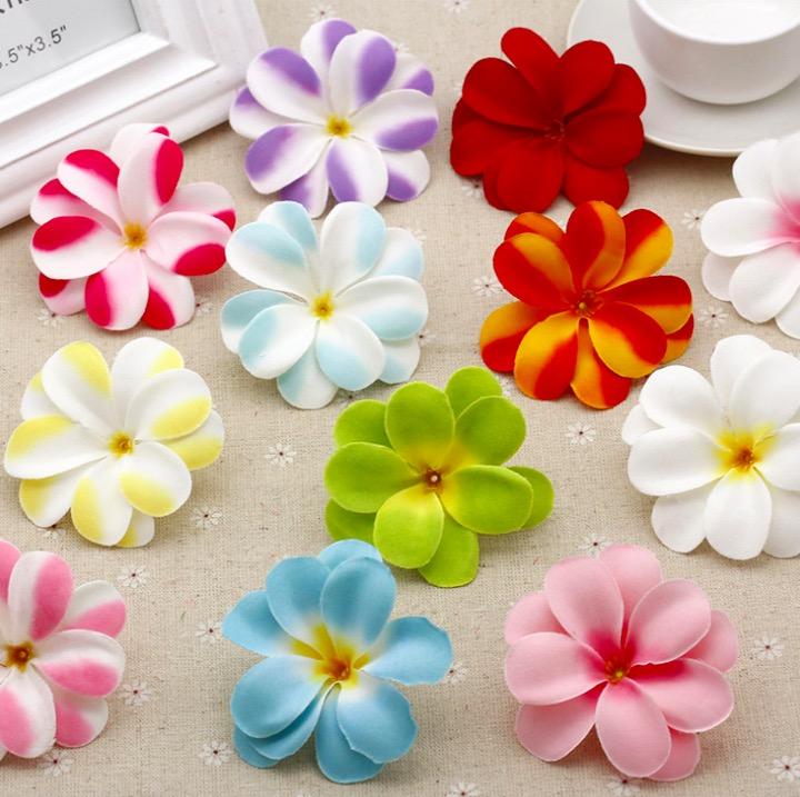 6.5-7cm Fabric artificial flower bud DIY hair wreath crown flowers silk plumeria rubra flowers 6pcs/lot(China (Mainland))
