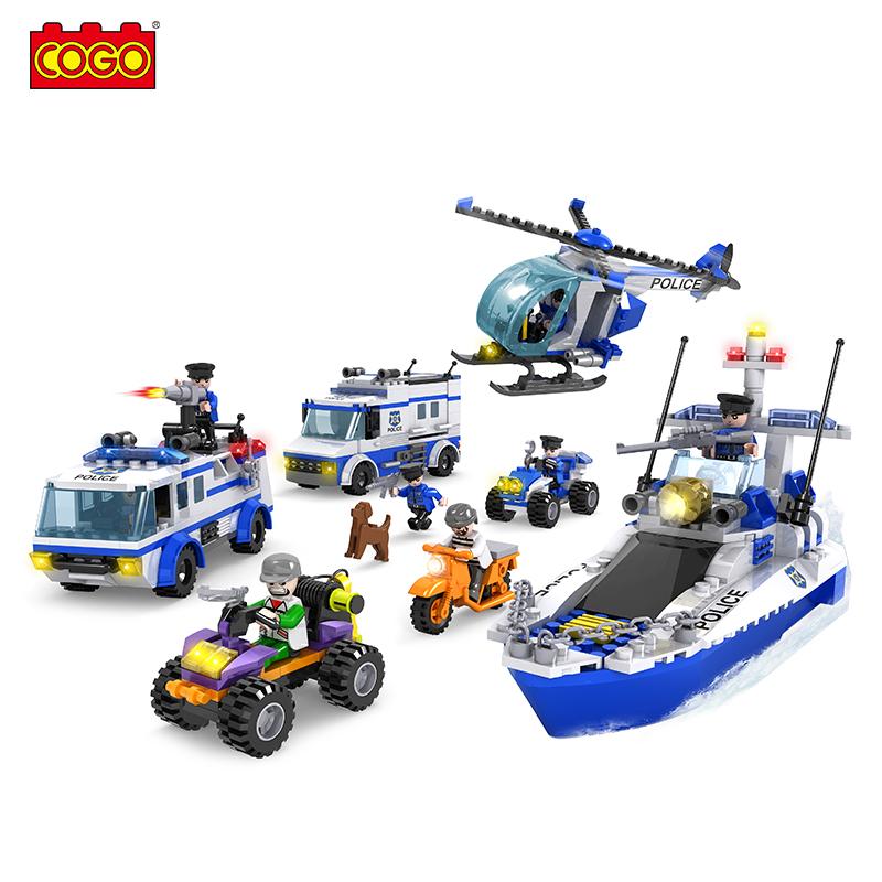 Best Building Bricks Joint Anti-terrorism Set Model Kits Diy Plastic 862PCS Educational Toys For Children decool duplo Blocks(China (Mainland))