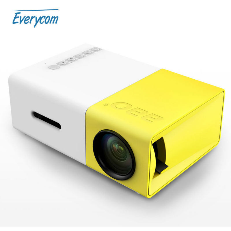 Mini pico projector portable pocket beamer yg300 video for Best portable projector