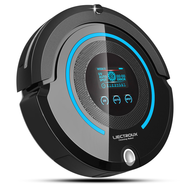 High-end Multifunction Robot Vacuum Cleaner (Sweep,Vacuum,Mop,Sterilize),Touch Screen,Schedule,2Way VirtualWall,Auto Charge,A338(China (Mainland))