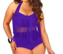 2pcs Big Size Fat Beautiful Top Fringe Tassel Bikini Set Push Up Swimwear Swimsuit Bathing Suits Beachwear Plus 5XL Q2797(China (Mainland))