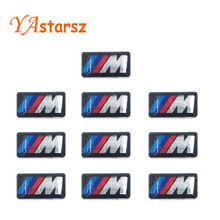 Buy 10X New Car styling small Decorative Badge Hub caps Steering wheel case E39 E36 E60 E90 E34 BMW E46 Car Emblem Sticker for $1.53 in AliExpress store