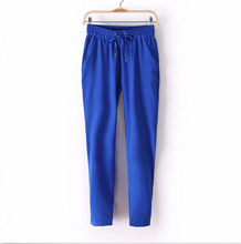 7Colors Summer New Women's Casual Pants Fashion Sexy Chiffon Elastic Waist Rainbow Pants Trousers Free Shipping 2015(China (Mainland))