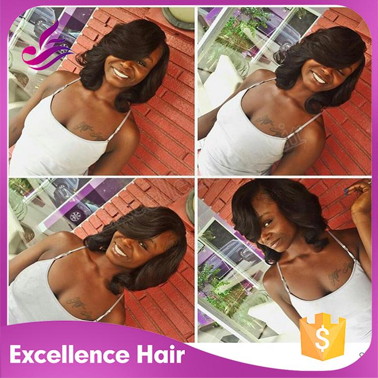 Фотография Cheap Bob Wigs Unprocessed Brazilian Short Human Hair U Part Bob Wigs For Black Women 7A Virgin Hair African American Bob Wigs
