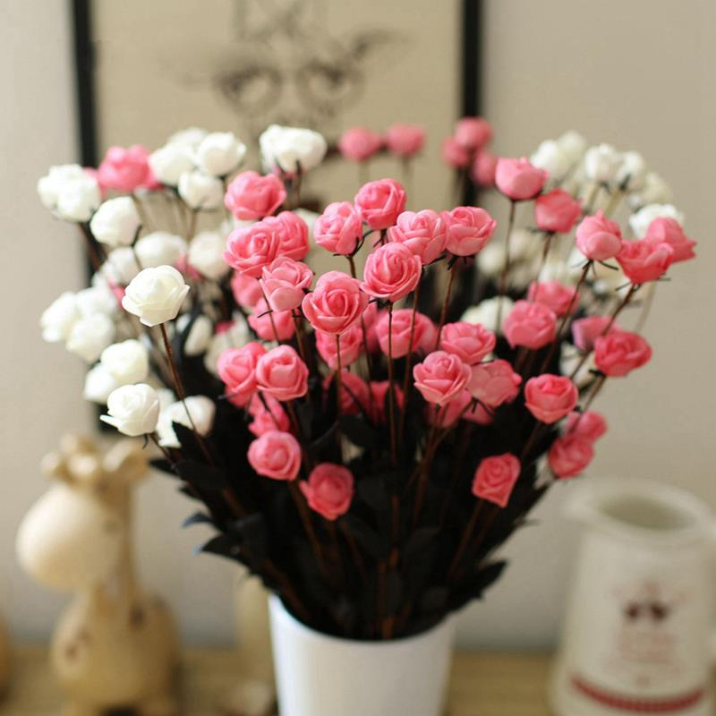 1 bouquet 15 heads artificial flower simulation rose fake for Artificial flower for wedding decoration