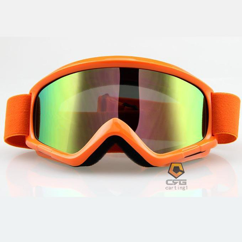 2015 New Snowboarding Sport Goggles UV-protection Eyewear orange color winter snowboard goggles wind-proof glasses lens(China (Mainland))