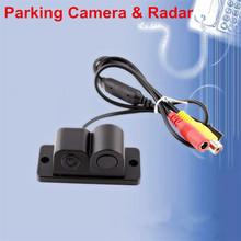 2 in 1 Automobile Car Electronics Parking Black Sensors Reversing Radar Car Rear View Camera Reversing Camera Waterproof(China (Mainland))