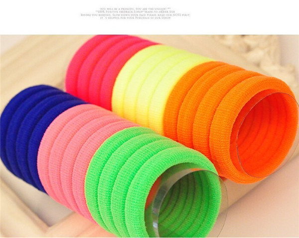 New Hot Hair Accesories Multi Color Elastric Hair Bands Rubber Hair Ring Ponytail Holder Gum For Girls Women Hair Rope(China (Mainland))