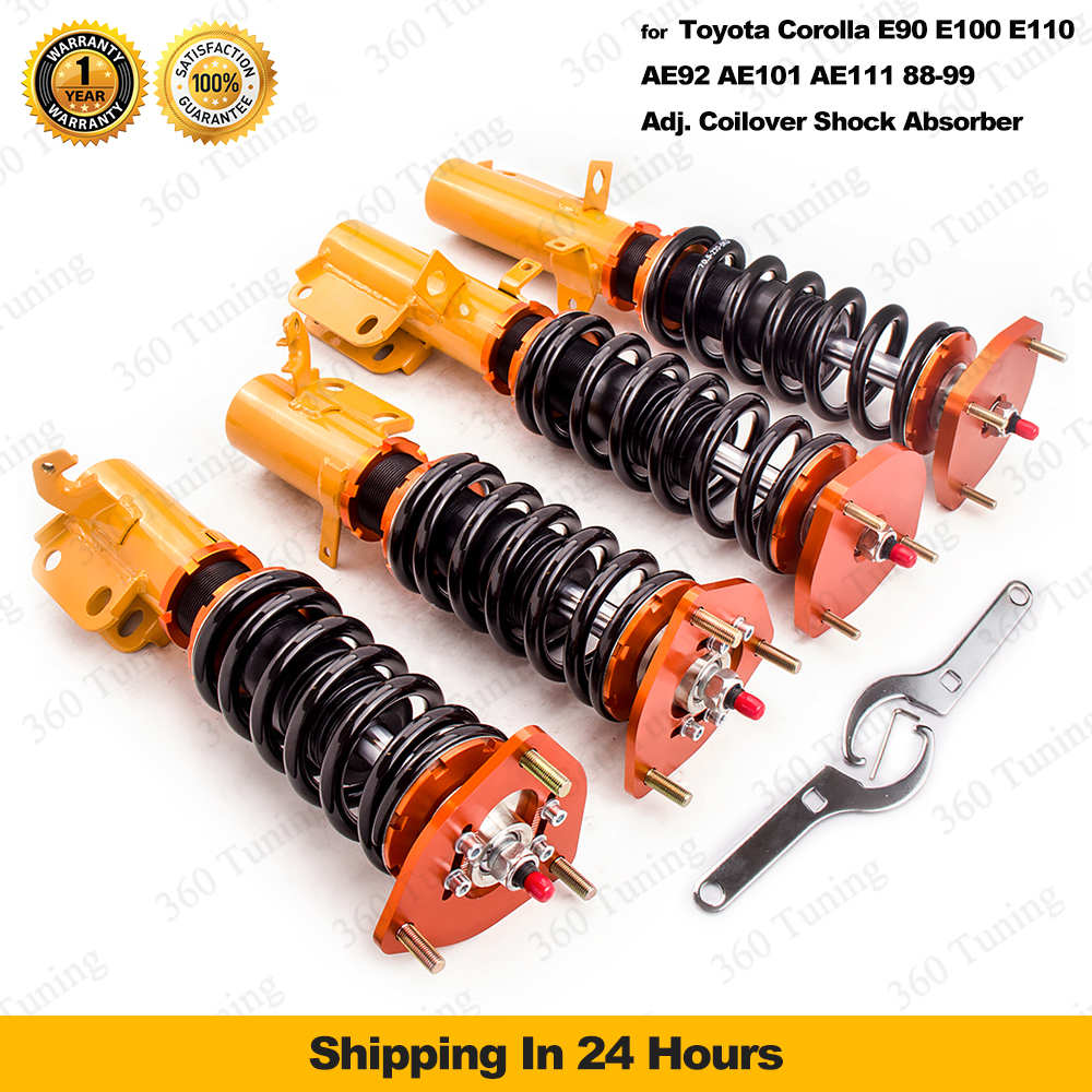 Shock Absorber Suspension Strut Fit Toyota Corolla 88-99 24way Adj.Damper Force Rear&amp;Front air Golden coilovers UK Free shipping<br><br>Aliexpress