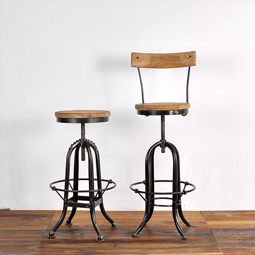 Rustic Iron Bar Stool W Back Reclaimed Pine Wood Seat Rustic Bar Stools Cheap