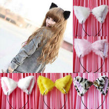 Orecchiette Cat Fox Long Fur Ears Anime Neko Party Costume Hair Headband Cosplay(China (Mainland))