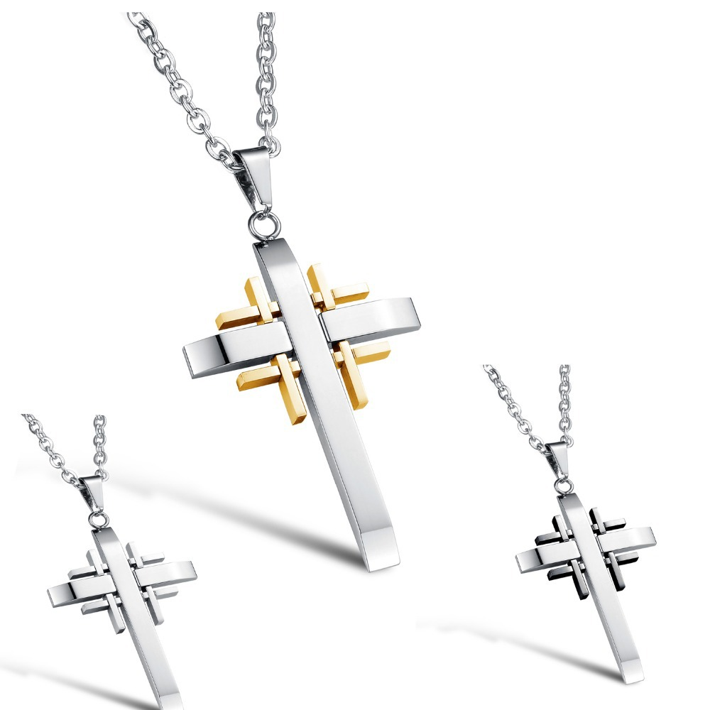 Hot Sale Wholesale Price Trendy Accessories Fashion Jewelry Delicate Cross Shape Link Chain Man Pendant Necklace GX941(China (Mainland))