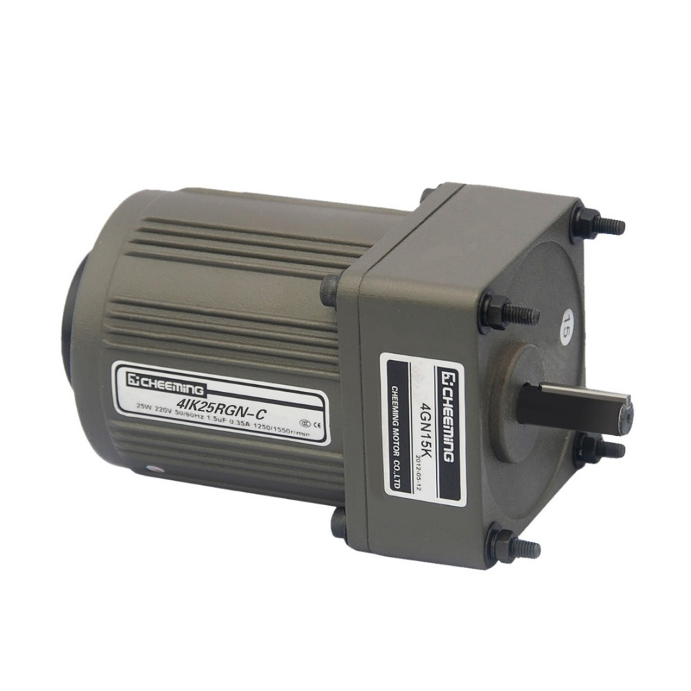 25w 220v ac small gear motor reversible with variable for Variable speed gear motor