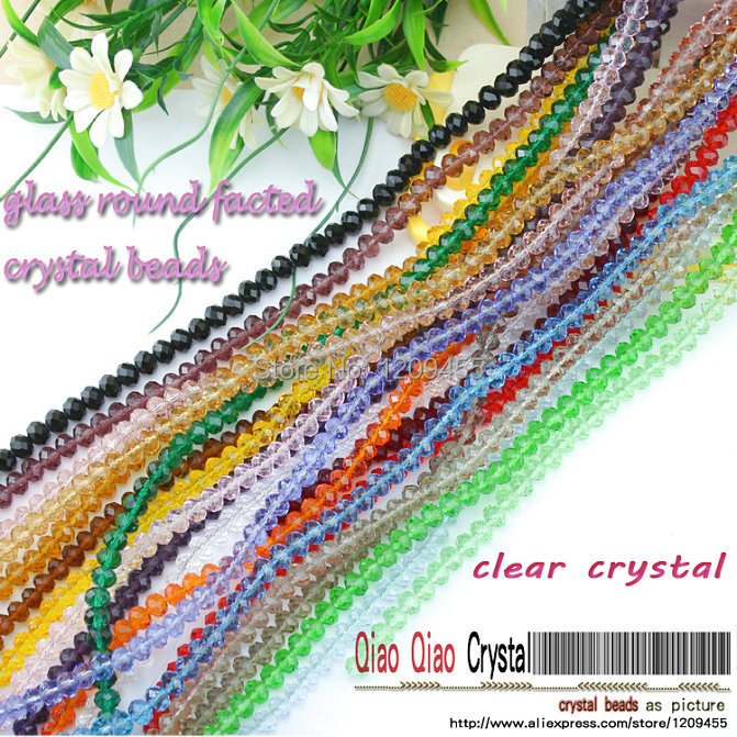 QiaoQiao crystal 2015  150pieces4 clear round facted bead