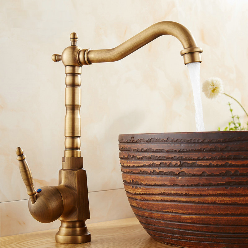 Antique Brushed Kitchen Faucets Bathroom Basin Faucets