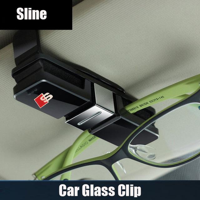 PC Car glass clip car card clip for audi RS Sline Q3 Q5 Q7 A3 A4 A5 A6 A7 A8 TT(China (Mainland))
