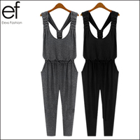 High-end 2014 Summer New Fashion Solid Casual Women Jumpsuits Rompers for Spring EF181