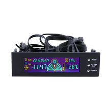 2015  5.25 inch PC Fan Speed Controller Temperature Display LCD Front Panel