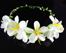 Girls flower wreath headband