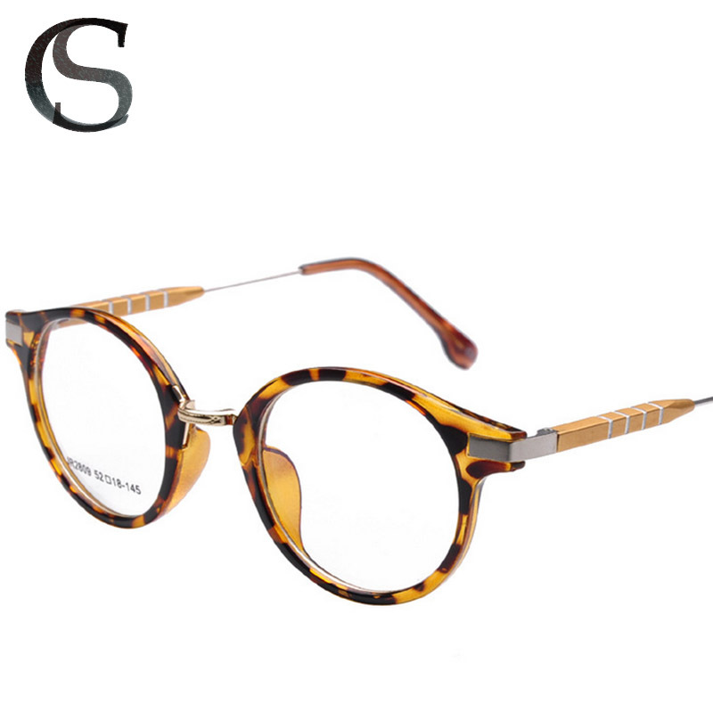 VINTAGE ROUND FRAME GLASSES WOMEN FOR MYOPIA OR READING ALUMINIUM MAGNESIUM ALLOY TEMPLE WITH BOX FREE SHIPPING(China (Mainland))