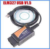 Auto code reader OBD/OBDII scanner ELM327 USB car diagnostic tool interface interface V1.5 version