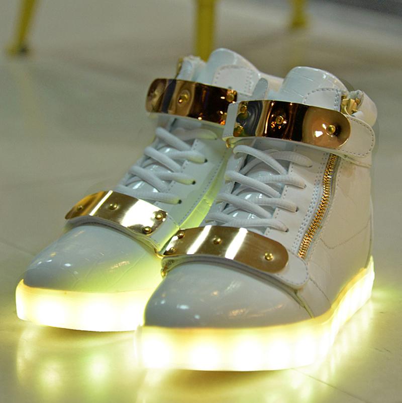 7 Colors Unisex Led Luminous Light Shoes Men Women Fashion USB rechargeable Light Led Shoes for Adult Black White 36-44 NX4008<br><br>Aliexpress