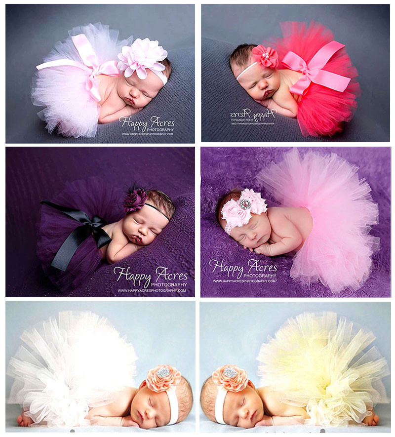 2016 Hot Baby Photography Props Flower Tire Tutu Girls Dress Kawaii Baby Clothes Handmade Hats Newborn Photography Accessories