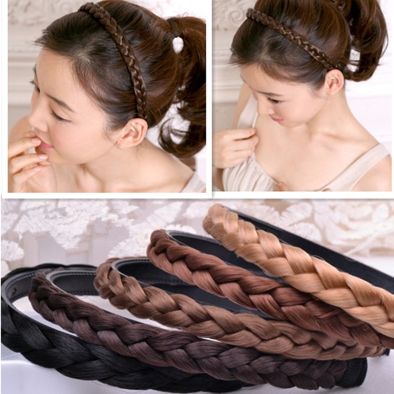 2014 New Arrival Fashion Twisted Wig Braid Hair Bands headband Women Hair Accessories A182(China (Mainland))