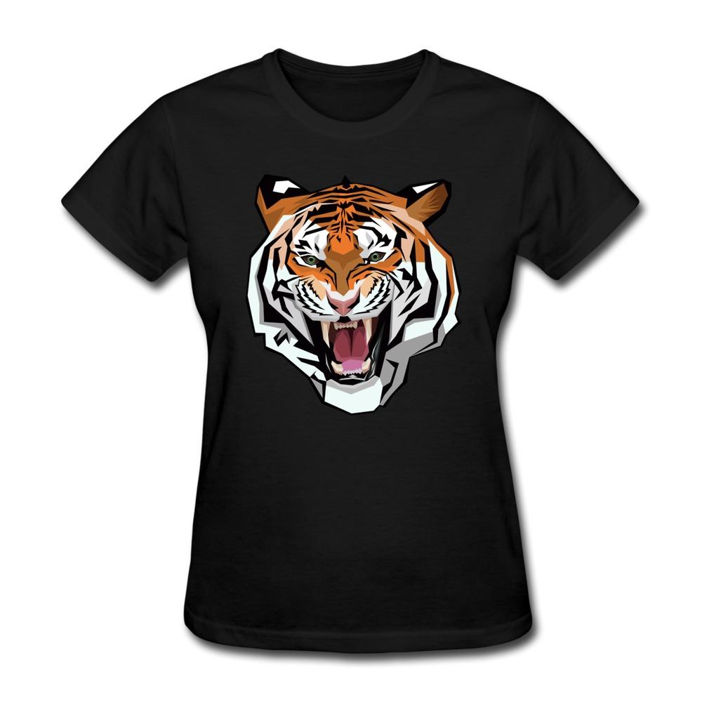 short sleeve womens t shirt tiger jokes texts women t