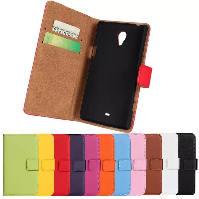 Free Shipping High Quality Plain Pattern Genuine Leather Wallet Case Cover For Sony Xperia T Lt30p Mobile Phone Cases(China (Mainland))