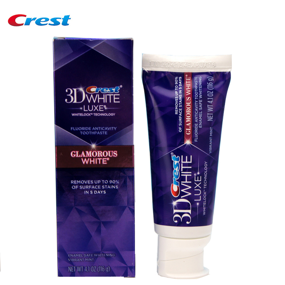 Crest 3D White Glamorous White Toothpaste Deep Clean Tooth Paste Oral Hygiene Vibrant Mint Teeth Whitening