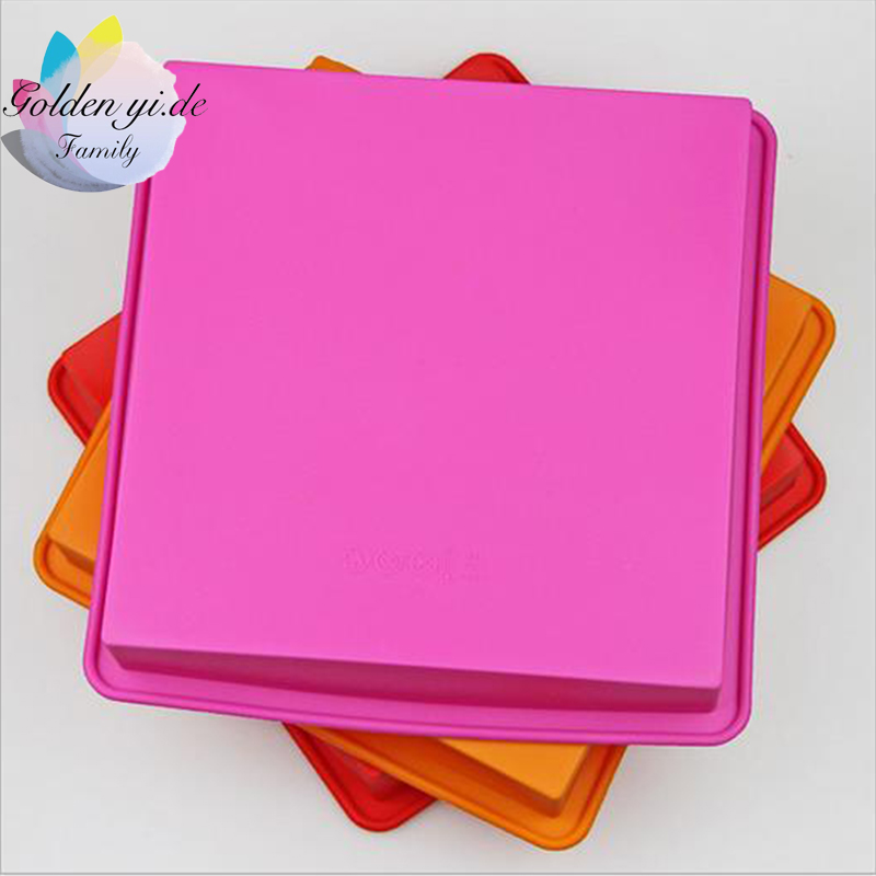 2016 New 1PCS Food Grade Silicone Mold Simple Square DIY Cake Tools High quality Pastry Moulds