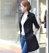 Autumn New Fashion Women Slim Long Double Breasted Trech Coat With Belt Epaulet Korean Style Solid Casual Outerwear ize S-2XL