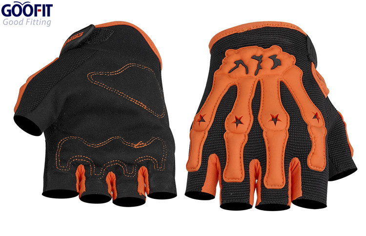 Goofit Mens Outdoor No-Slip Half Finger Motorcycle Bicycle Gloves Casual Motocross Riding Glove M-XL CE-04B(China (Mainland))