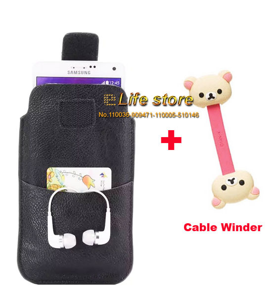 Mobile Phone Leather Case Belt Clip Case +Cable Winder For Samsung Galaxy Xcover 3 G388F S7710 Xcover 2 S7710L(China (Mainland))