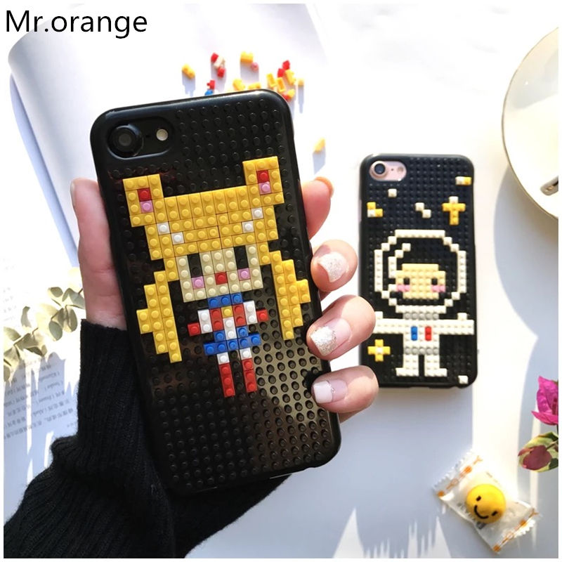 Mr.orange Luxury Legos Blocks Astronauts Sailor moon Back Cover Phone Case For Apple iPhone 6 6S 7 7 Plus Phone Bag Dismantled(China (Mainland))