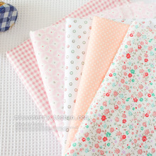 5pcs 40x50cm Coral pink colour system Basics shivering point bar Pure cotton twill clothing cloth manual lining free shipping(China (Mainland))