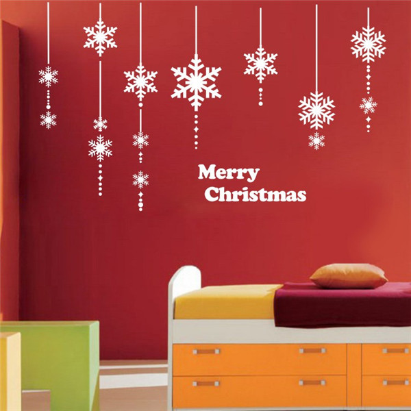 Christmas outdoor decoration large window stickers for for Stickers decorativos pared