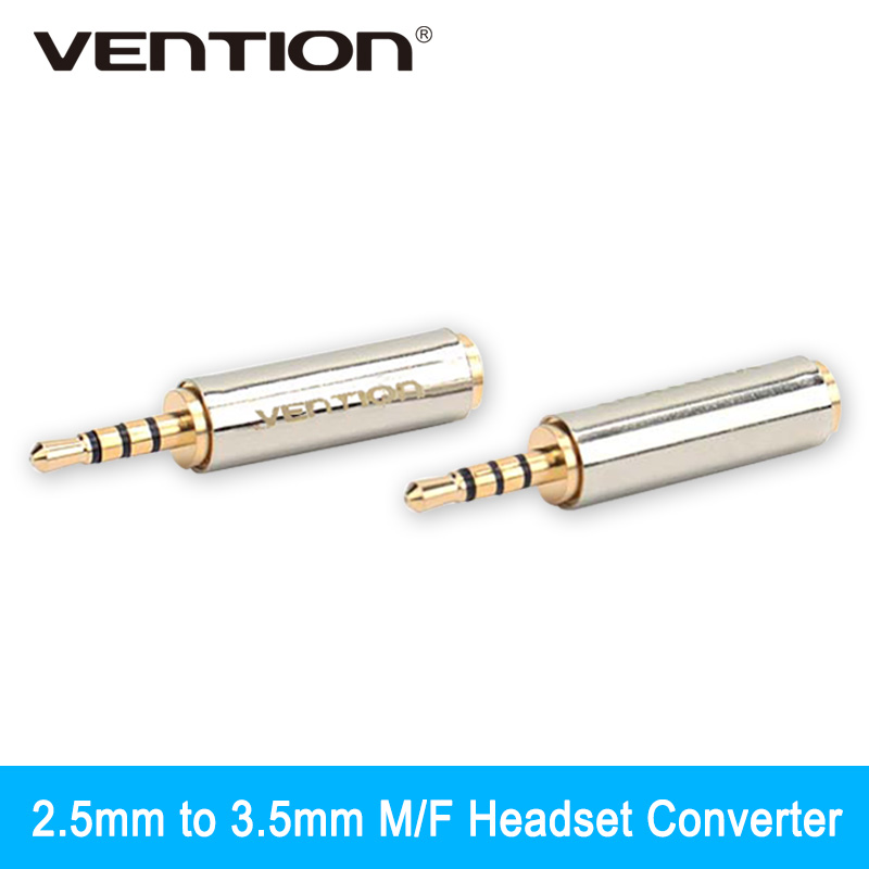 Vention 1Pcs 2.5mm Male to 3.5mm Female Audio Stereo Headphone Jack Adapter Connector Converter For Iphone Xiaomi(China (Mainland))
