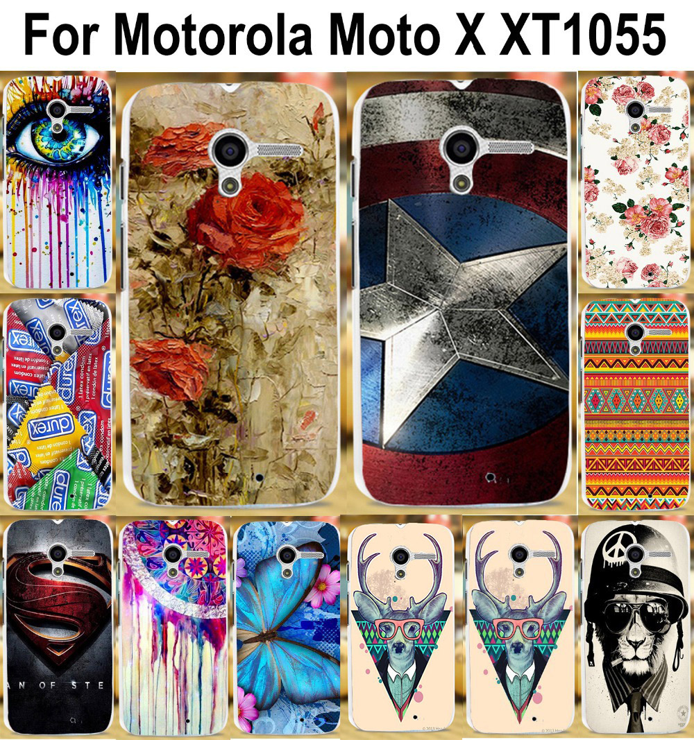 Painted phone case protective case hard Back cover Skin Shell cases For Motorola Moto X XT1055 XT1058 XT1060 4.7 inch cases(China (Mainland))