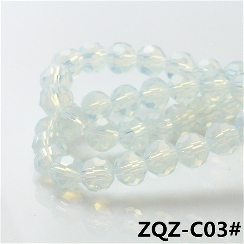 Crystal Football Beads 3MM (195Pieces/Lot) Smooth 32 Face Transparent Football Beads Crystal Glass Beads Diy Jewelry Wholesale(China (Mainland))