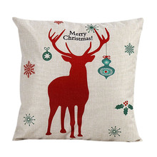 Happy home Pillow case personalized pillowcase Vintage Christmas Santa Claus Bed Home Decorate Pillow Case Pillow Shams